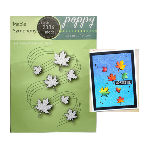 Maple Symphony Metal Die Cut Set by Poppystamps Dies 2386