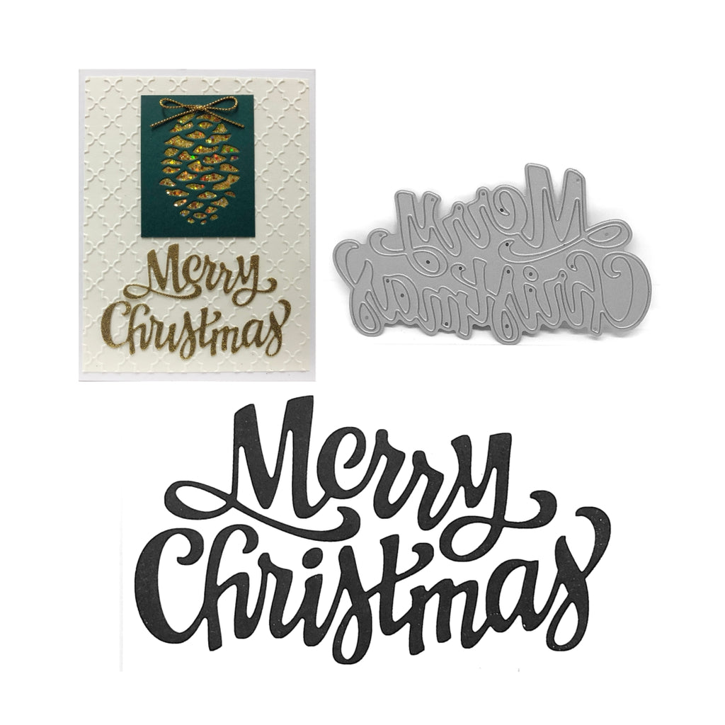 Merry Christmas Word Die by Serendipity Stamps 094 - Inspiration Station Scrapbook Store & Retreat