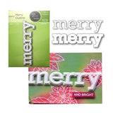 Merry Outline Metal Die Set by Poppystamps Dies 2111 - Inspiration Station Scrapbook Store & Retreat