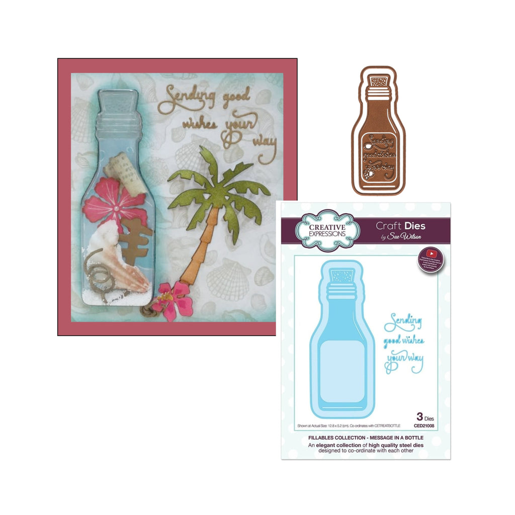 Message in a Bottle Die Cut Set by Sue Wilson for Creative Expressions Craft Dies CED21008 - Inspiration Station Scrapbook Store & Retreat