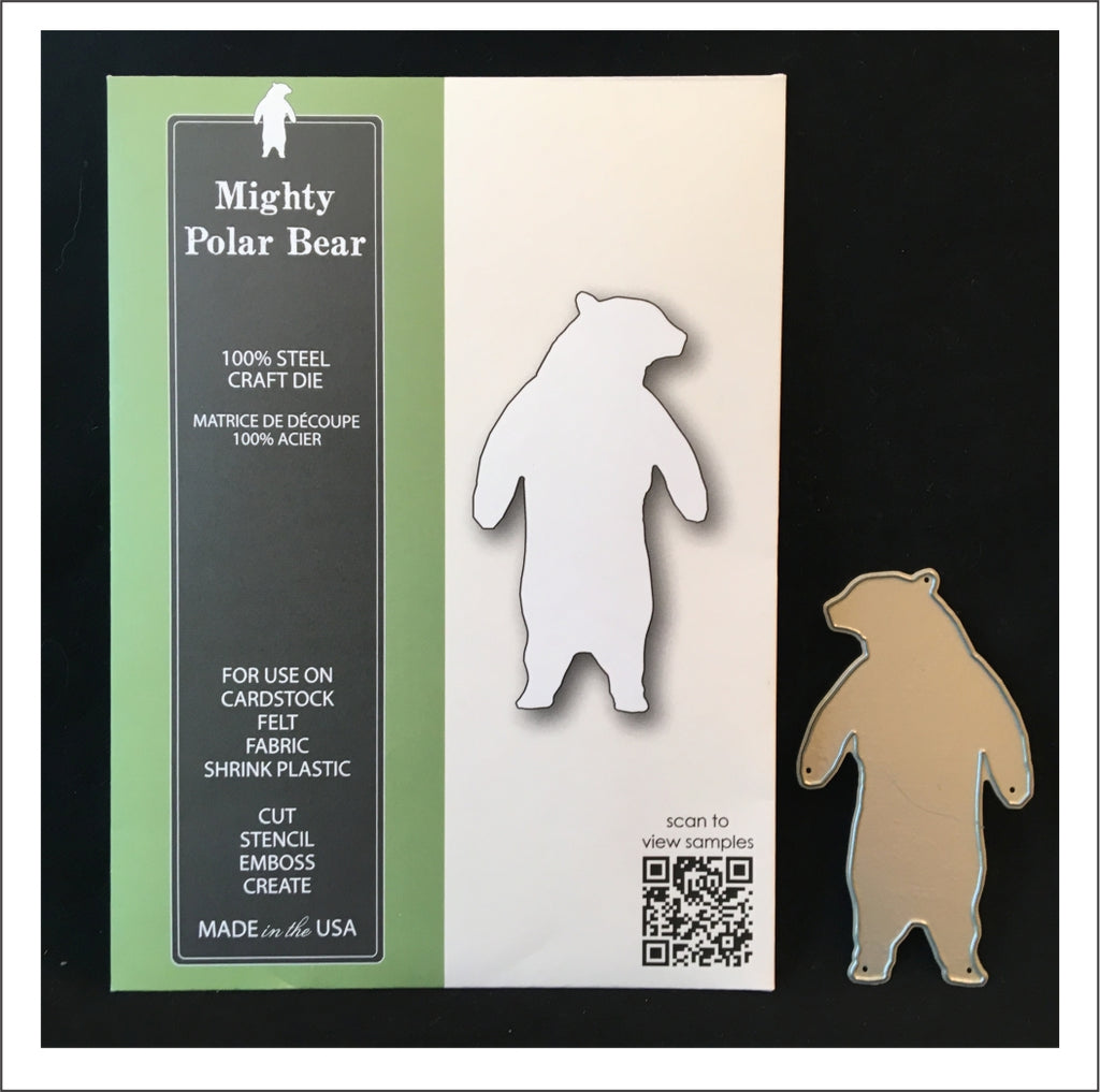 Mighty Polar Bear Metal Cutting Die by Poppystamps Dies 1874 - Inspiration Station Scrapbook Store & Retreat