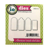 Mini Rectangle Tags 2 Metal Die Cut Set by Impression Obsession Cutting Dies