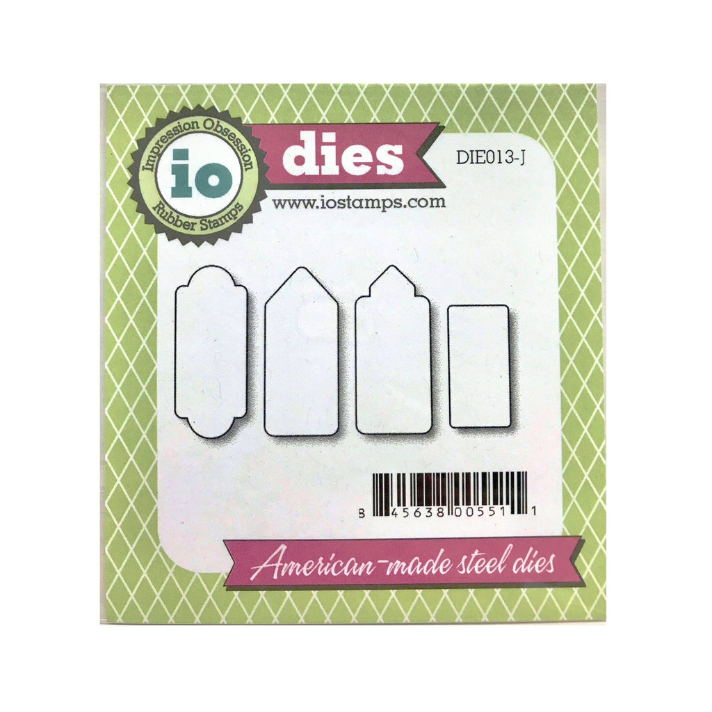 Mini Rectangle Tags 1 Metal Die Cut Set by Impression Obsession Cutting Dies DIE013-J