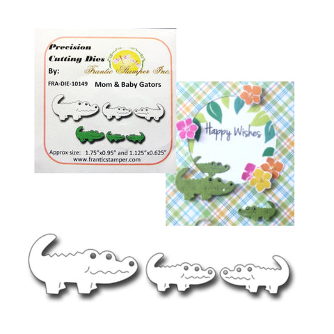 Mom & Baby Gators Die Set by Frantic Stamper Metal Dies 10149 - Inspiration Station Scrapbook Store & Retreat
