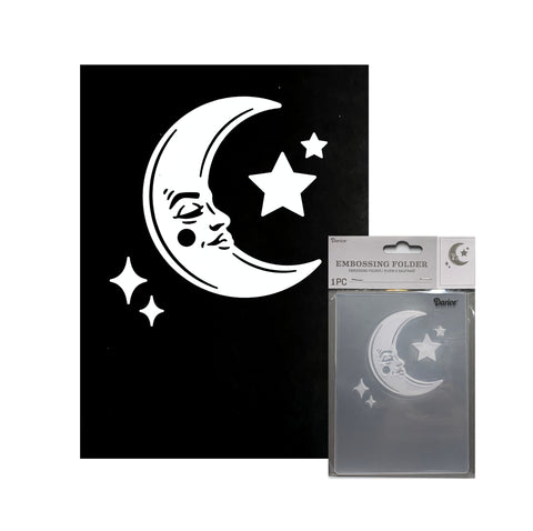 Moon and Stars Embossing Folder By Darice craft folders