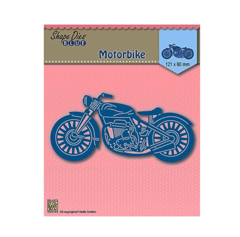 Motorcycle metal die cut by Nellie Snellen Craft cutting dies SDB001