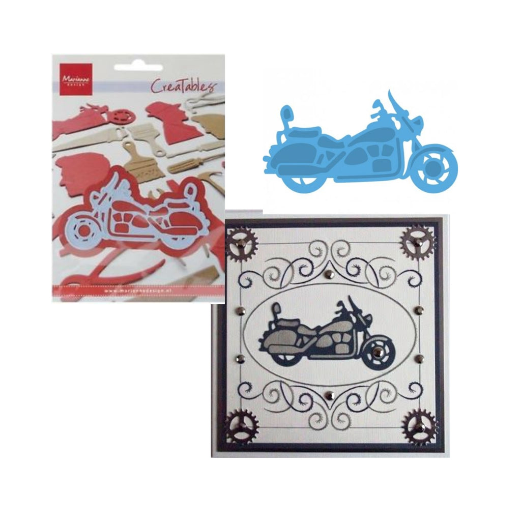 Motorcycle Metal Die by Marianne Design Dies LR0287 - Inspiration Station Scrapbook Store & Retreat