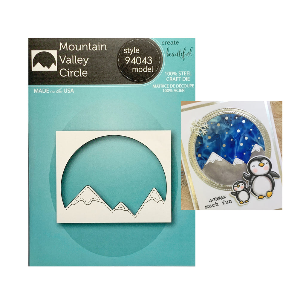 Mountain Valley Circle metal craft die by Memory Box Cutting Dies 94043