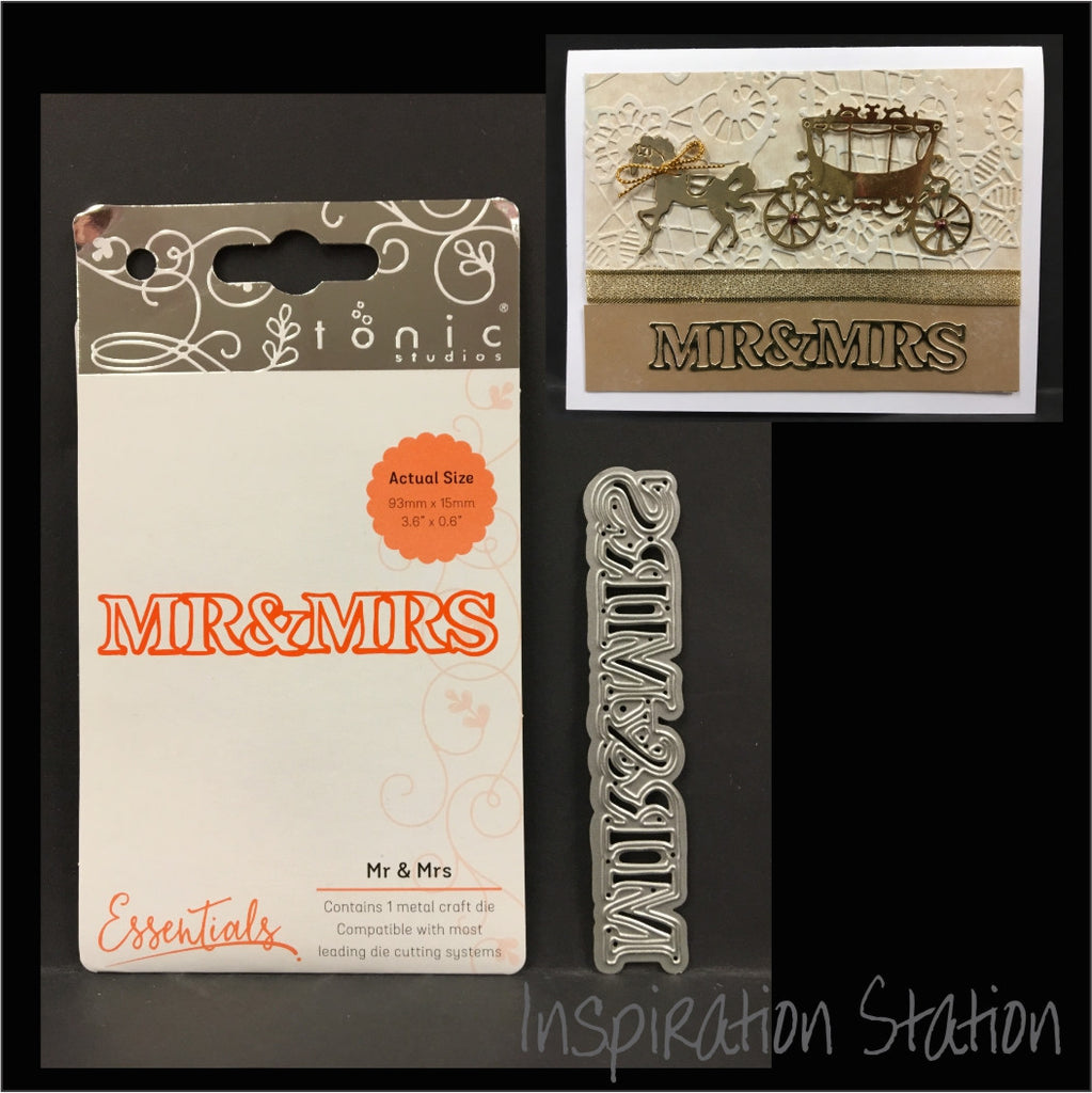 Mr & Mrs Metal Wedding Die by Tonic Studios Dies 1417E - Inspiration Station Scrapbook Store & Retreat
