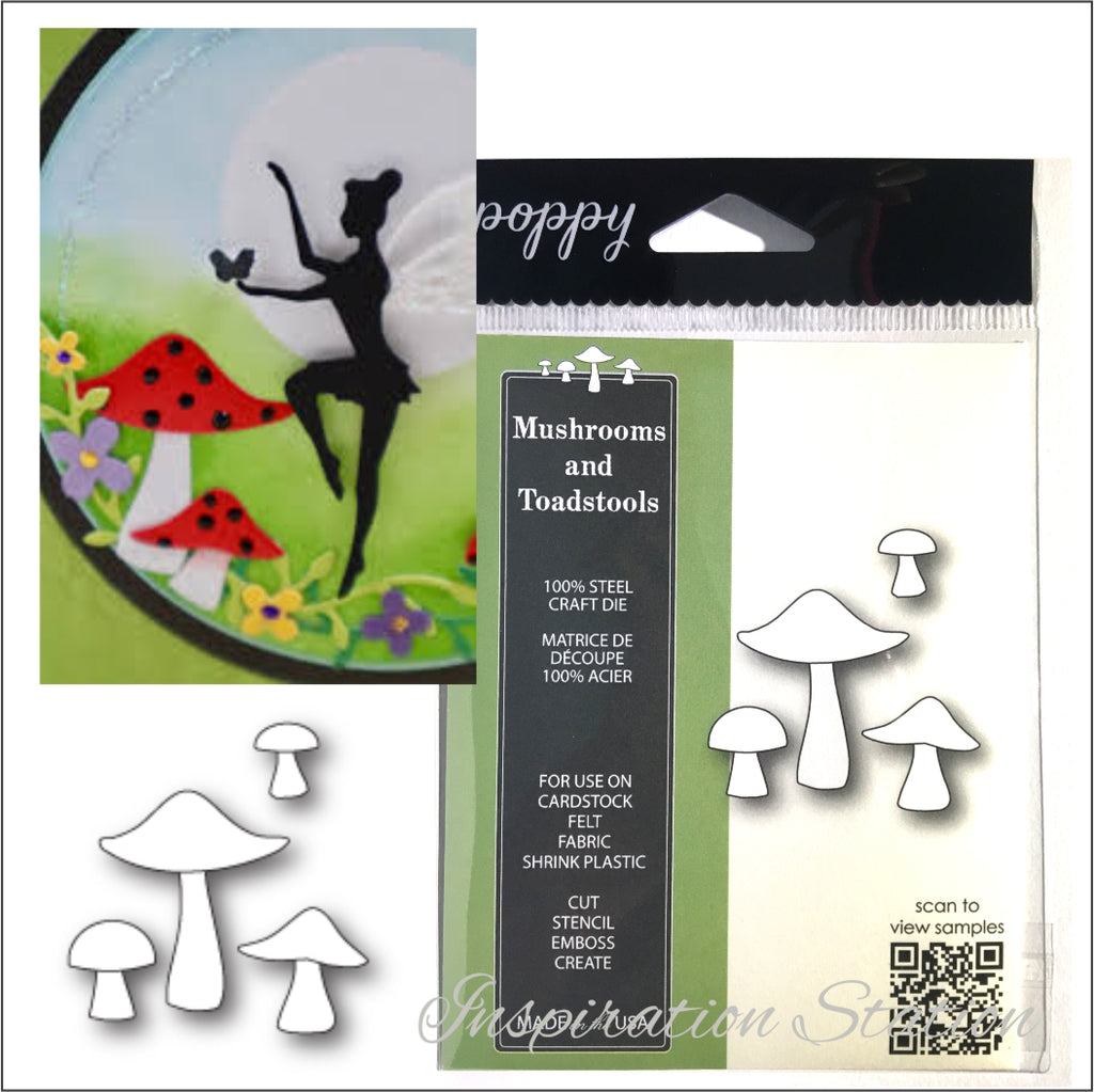 Mushrooms and Toadstools Metal Die Set by Poppystamps 1810 - Inspiration Station Scrapbook Store & Retreat