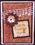 Music Embossing Folder by Nellie Snellen EFE019 - Inspiration Station Scrapbook Store & Retreat