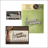 Musical Happy Birthday Die Cut by Poppy Stamps Dies 2025 - Inspiration Station Scrapbook Store & Retreat