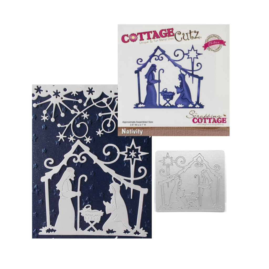 Nativity Metal Die by Cottage Cutz Dies CCE-182 - Inspiration Station Scrapbook Store & Retreat
