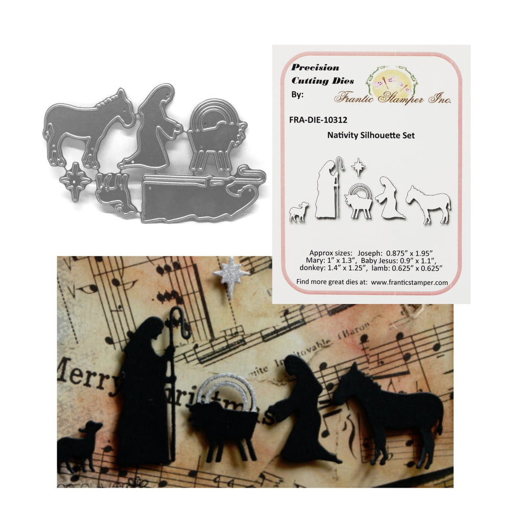 Nativity Silhouette Die Cut Set by Frantic Stamper FRA-DIE-10312 - Inspiration Station Scrapbook Store & Retreat