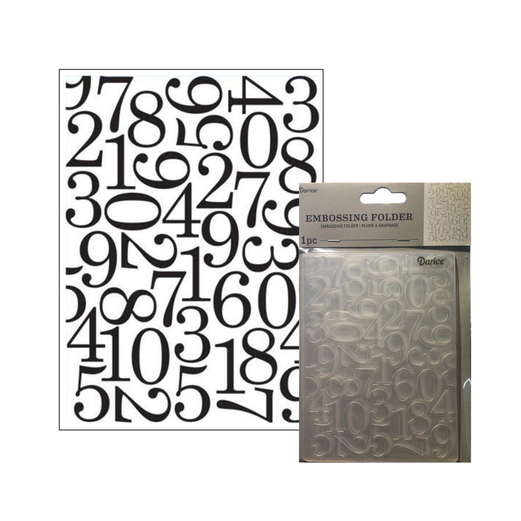 Numbers Embossing Folder by Darice Embossing Folders 30032595 - Inspiration Station Scrapbook Store & Retreat