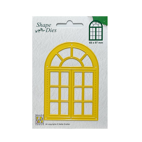 Open Arched Window metal die cut by Nellie Snellen Craft cutting dies SD180