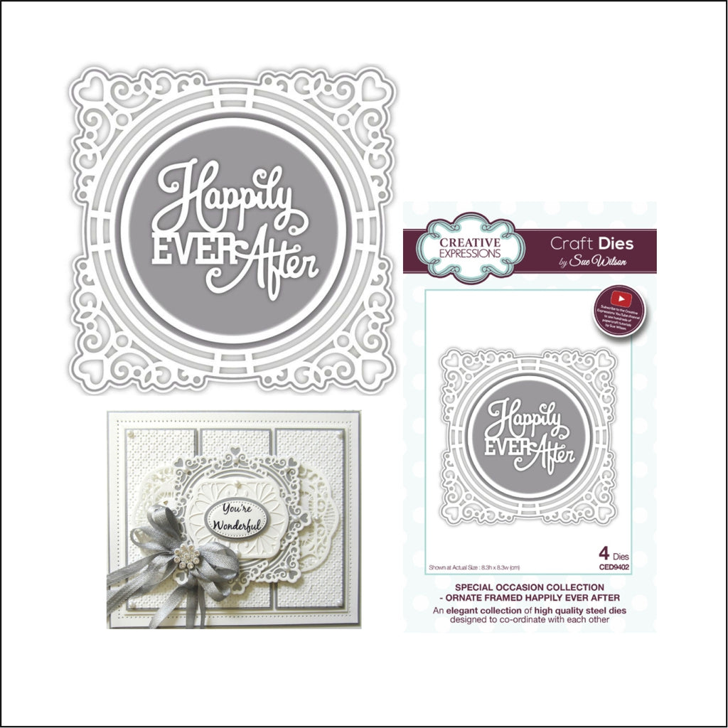Ornate Framed Happily Ever After Thin Metal Die Set by Sue Wilson for Creative Expressions Dies CED9402 - Inspiration Station Scrapbook Store & Retreat