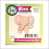 Patchwork Elephant Metal Die Cut Set by Impression Obsession Dies DIE425-L - Inspiration Station Scrapbook Store & Retreat