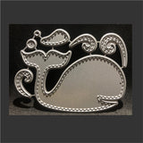Patchwork Whale Metal Die Cut Set by Impression Obsession Dies DIE424-K - Inspiration Station Scrapbook Store & Retreat