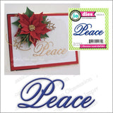 Peace Word Die Cut by Impression Obsession Dies DIE226-A - Inspiration Station Scrapbook Store & Retreat