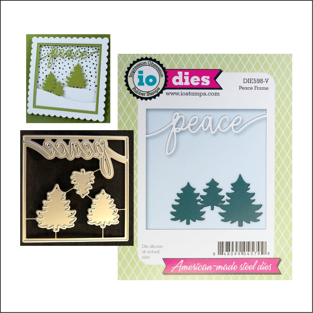 Peace Frame Die Cut by Impression Obsession Dies DIE598-V - Inspiration Station Scrapbook Store & Retreat