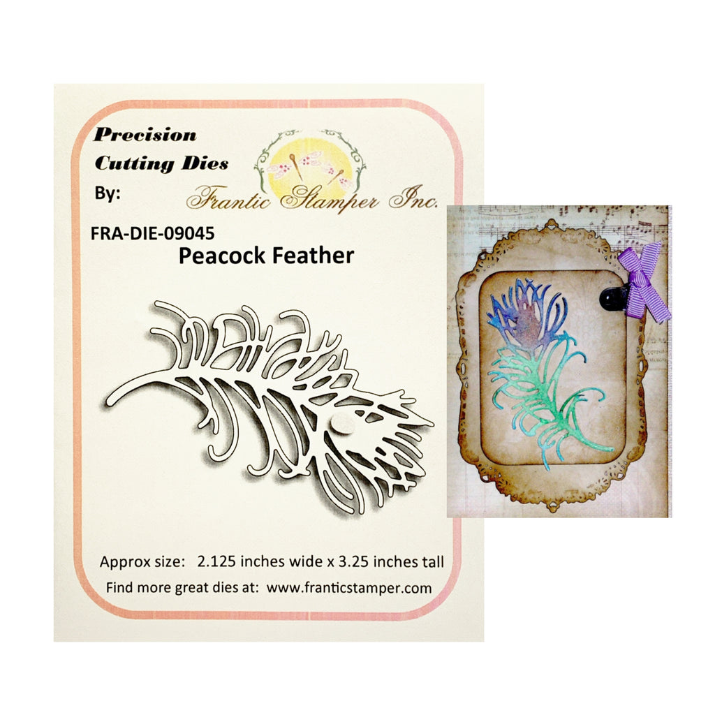 Peacock Feather Metal Die Cut by Frantic Stamper Dies FRA-DIE-09045