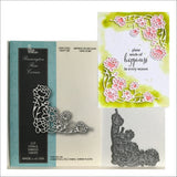 Pennington Rose Corner Metal Die by Memory Box Cutting Dies 99141