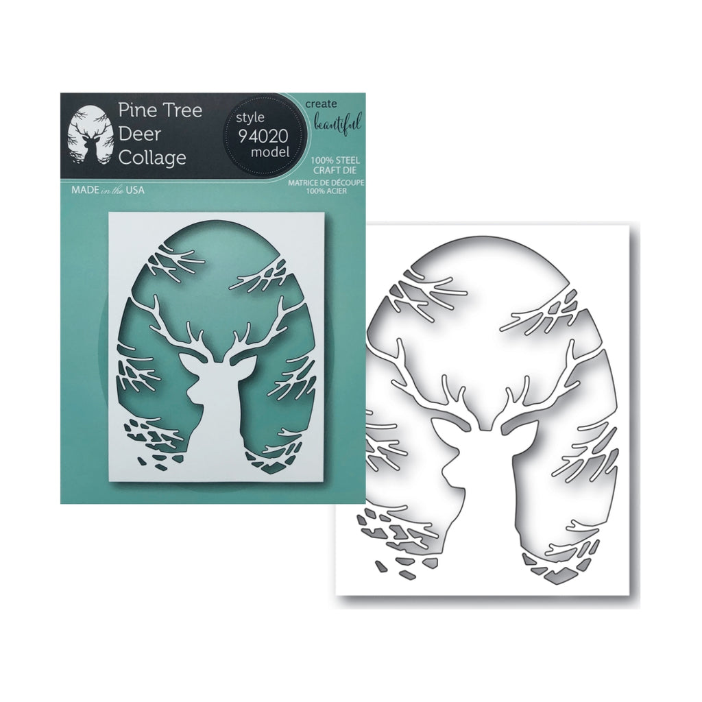 Pine Tree Deer Collage Metal Die by Memory Box Dies 94020 - Inspiration Station Scrapbook Store & Retreat