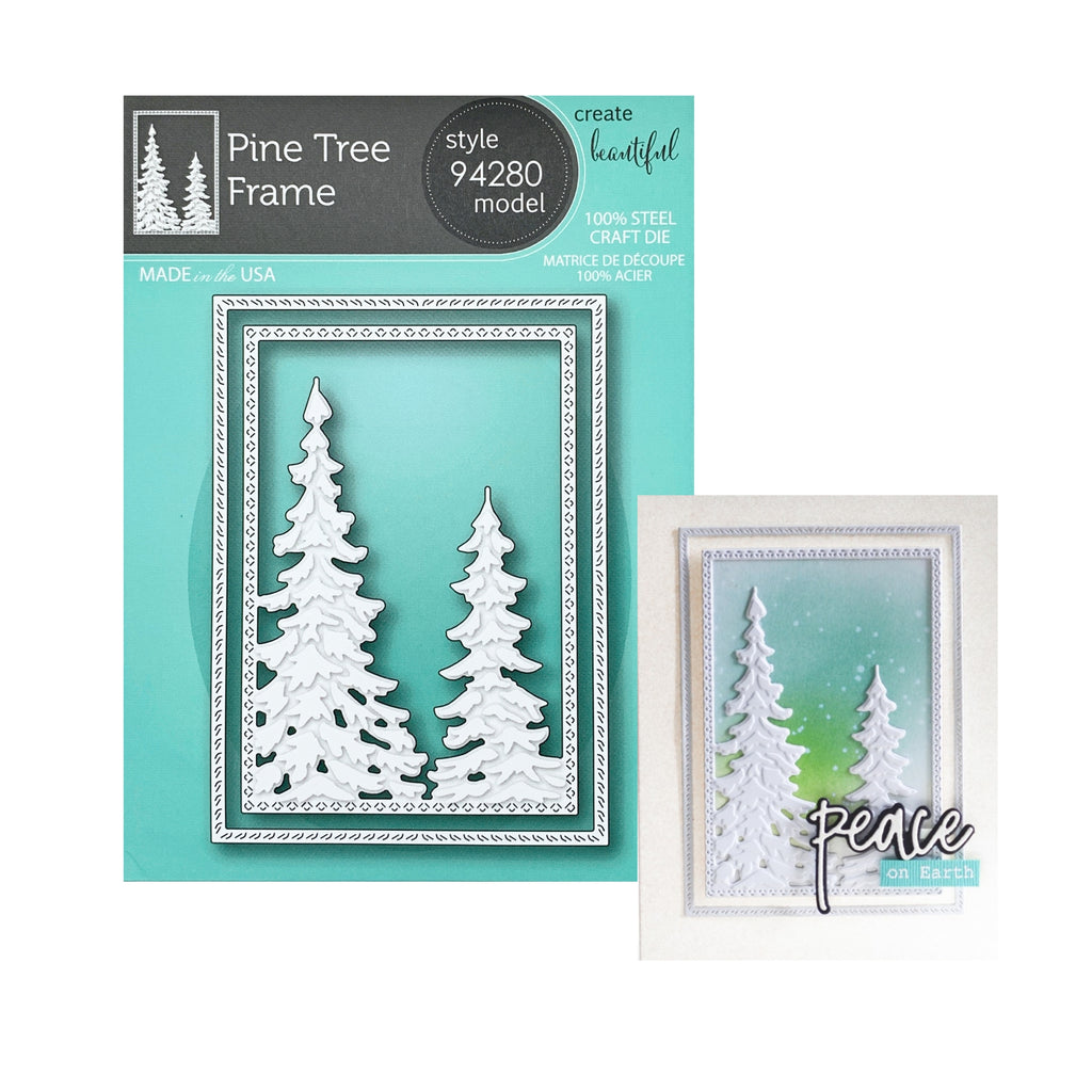 Pine Tree Frame Metal Die Cut Set by Memory Box Dies 94280 - Inspiration Station Scrapbook Store & Retreat