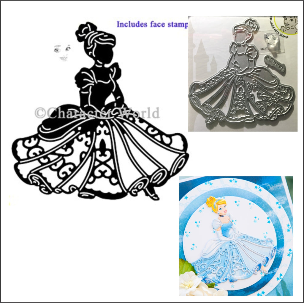 Poised Cinderella Thin Metal Die by Disney and Character World DUS0643 - Inspiration Station Scrapbook Store & Retreat