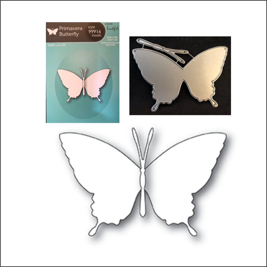 Primavera Butterfly Die Cut Set by Memory Box Dies 99916 - Inspiration Station Scrapbook Store & Retreat