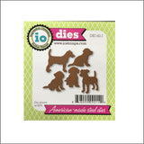 Puppy Metal Cutting Die Set by Impression Obsession Dies DIE142-J - Inspiration Station Scrapbook Store & Retreat