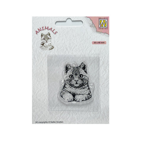 Cat Clear Stamp Pussycat by Nellie Snellen Cling Craft Stamps