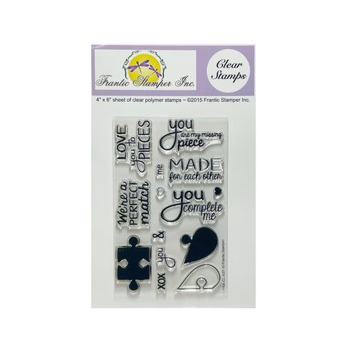 Puzzle Me Clear Cling Stamp Set by Frantic Stamper Stamps FRA-CL-037