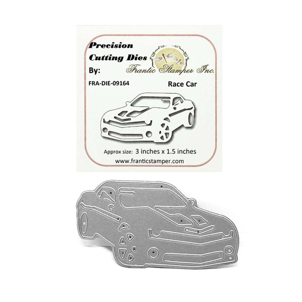 Race Car Metal Die by Frantic Stamper FRA-DIE-09164 - Inspiration Station Scrapbook Store & Retreat