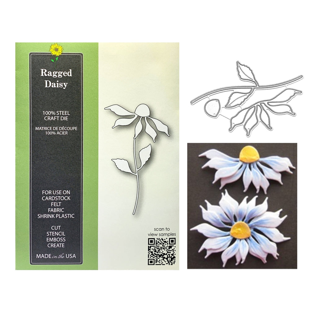 Ragged Daisy Die Cut Set by Poppystamps Dies 1842 - Inspiration Station Scrapbook Store & Retreat