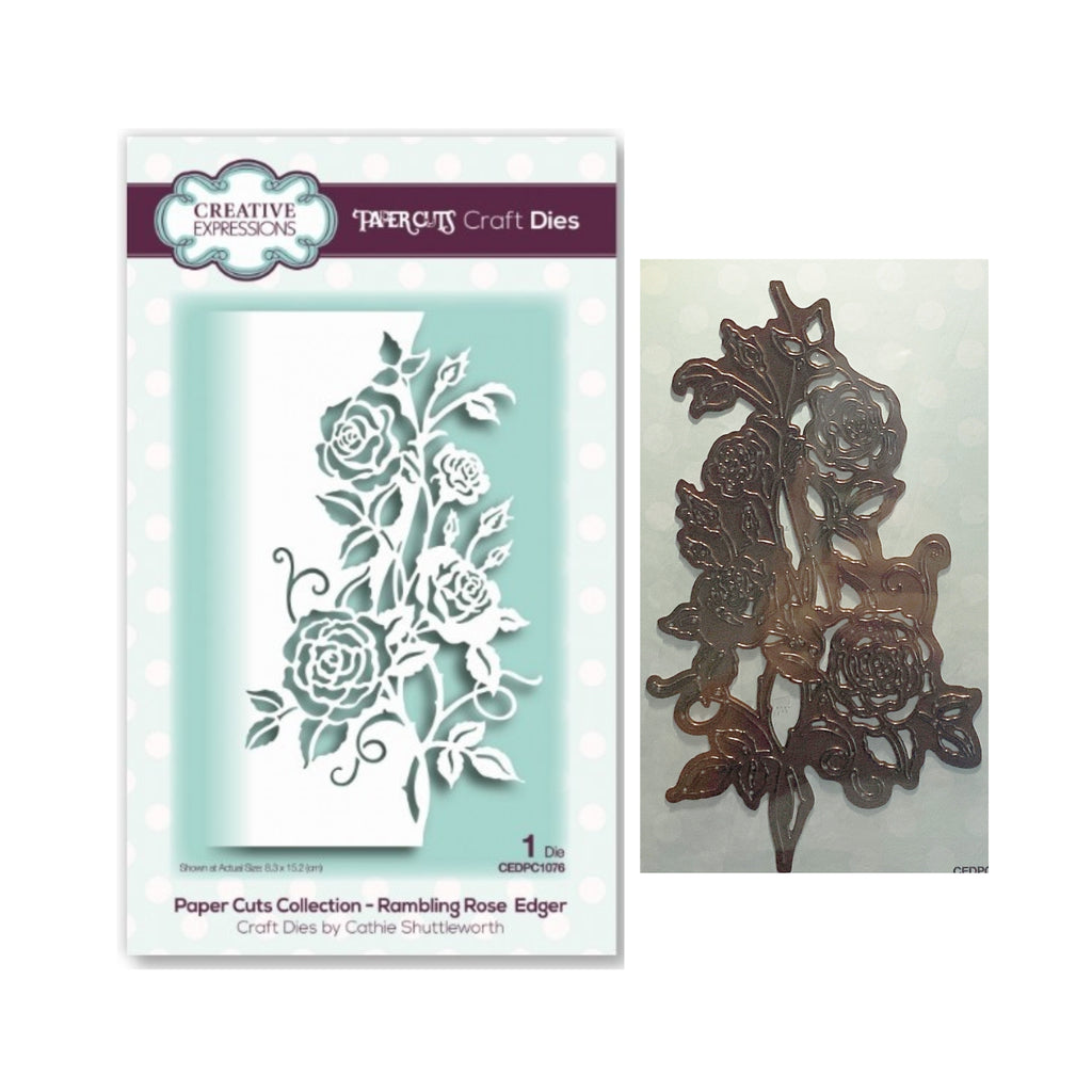 Rambling Rose Edger Die Cut Set by Sue Wilson for Creative Expressions Craft Dies CEDPC1076 - Inspiration Station Scrapbook Store & Retreat