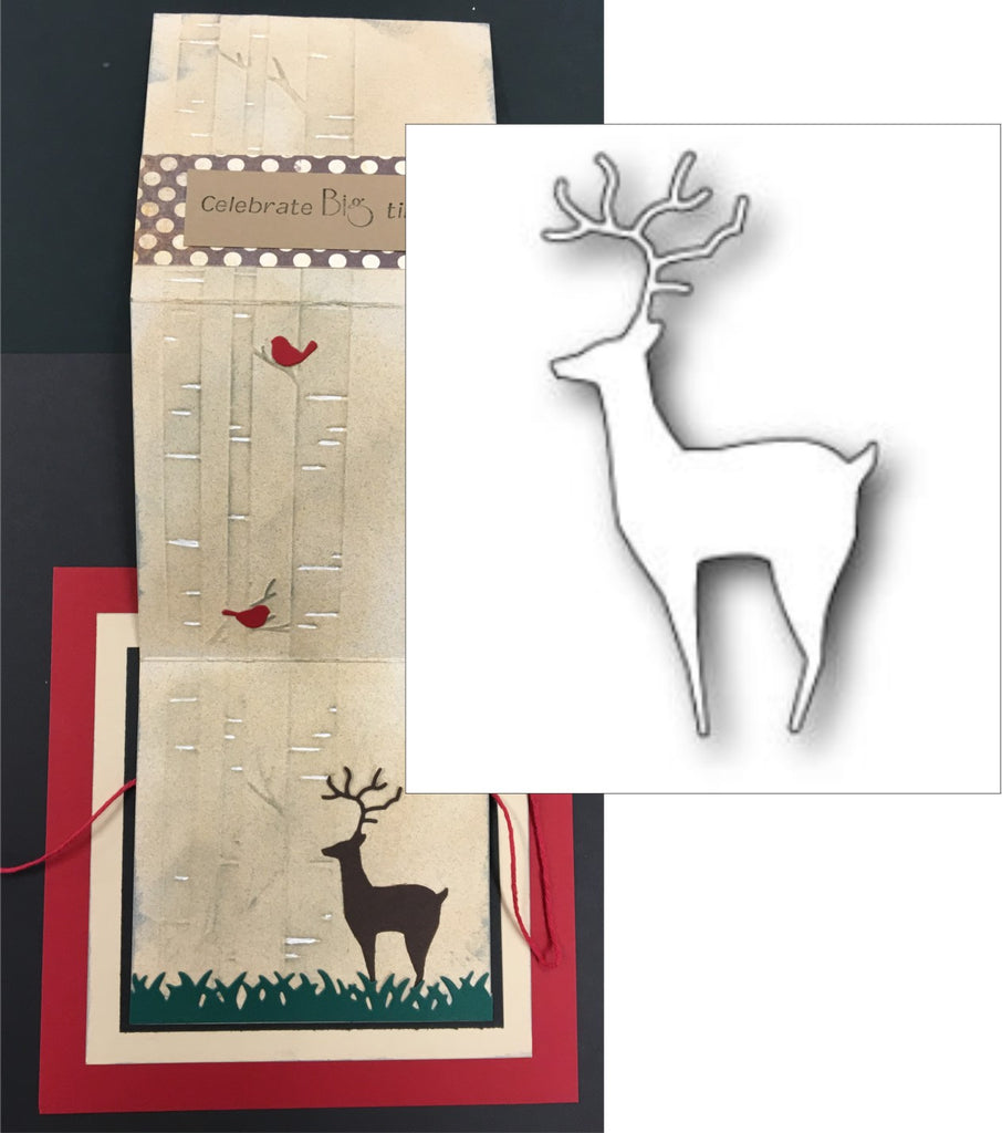 Regal Deer craft die by Poppystamps 1300 - Inspiration Station Scrapbook Store & Retreat