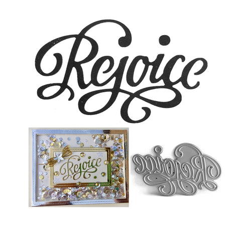 Rejoice Thin Metal Die by Serendipity Stamps 093 - Inspiration Station Scrapbook Store & Retreat
