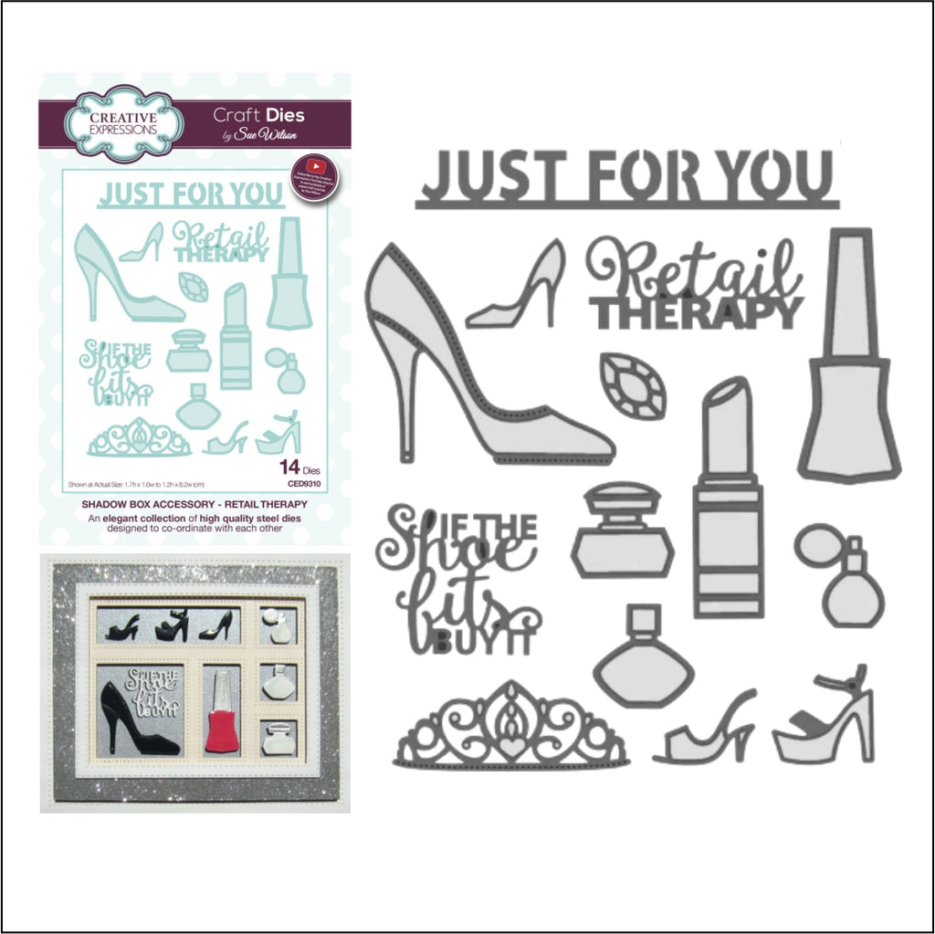 Retail Therapy Die Cut Set by Sue Wilson for Creative Expressions Craft Dies CED9310 - Inspiration Station Scrapbook Store & Retreat