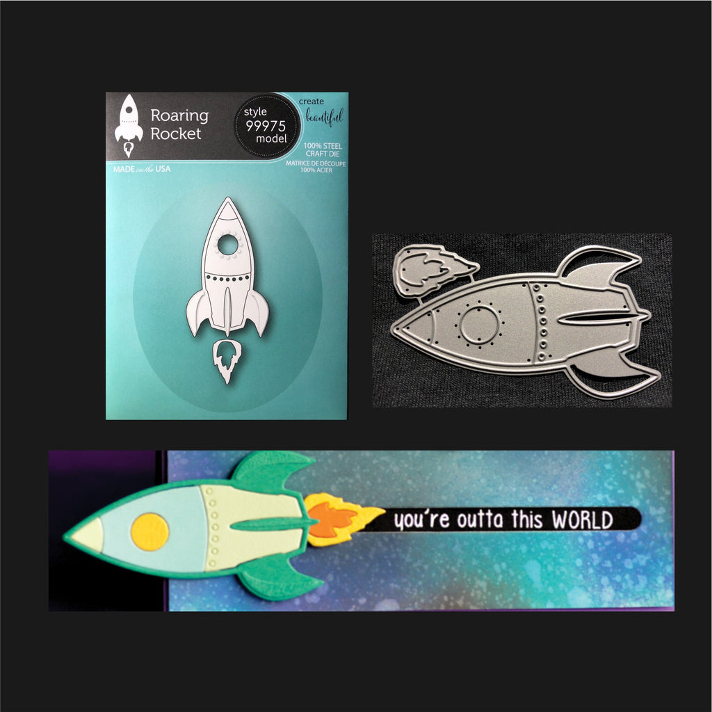 Roaring Rocket Die Cut Set by Memory Box Dies 99975 - Inspiration Station Scrapbook Store & Retreat