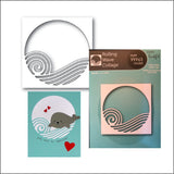 Rolling Wave Collage Metal Die Cut by Memory Box Dies 99963 - Inspiration Station Scrapbook Store & Retreat
