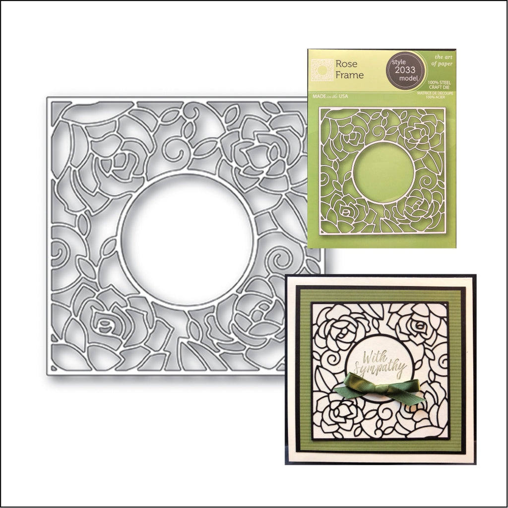 Rose Frame Die Cut By Poppystamps Dies 2033 - Inspiration Station Scrapbook Store & Retreat