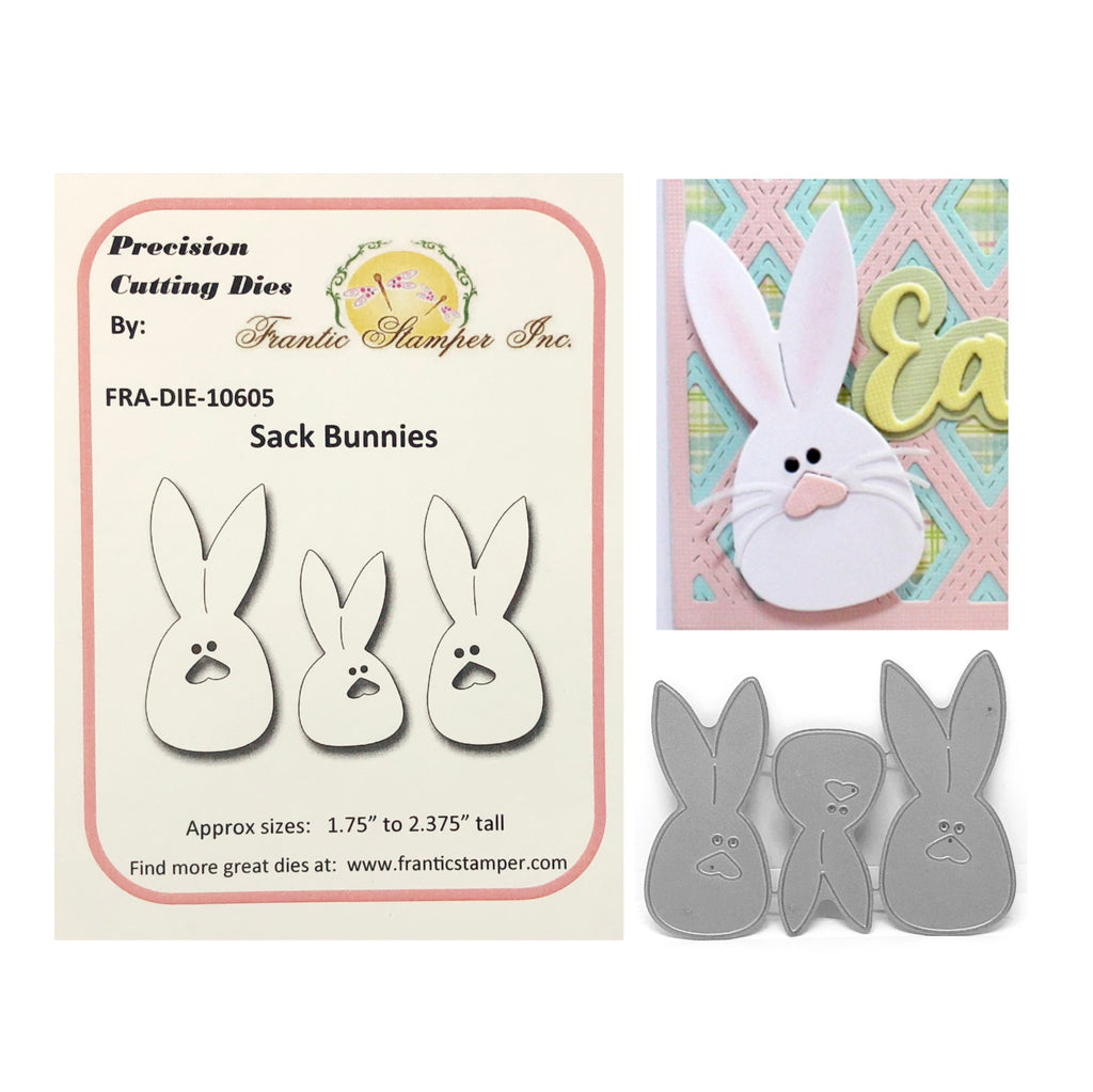 Sack Bunnies Die Set by Frantic Stamper Metal Dies FRA-DIE-10605 - Inspiration Station Scrapbook Store & Retreat