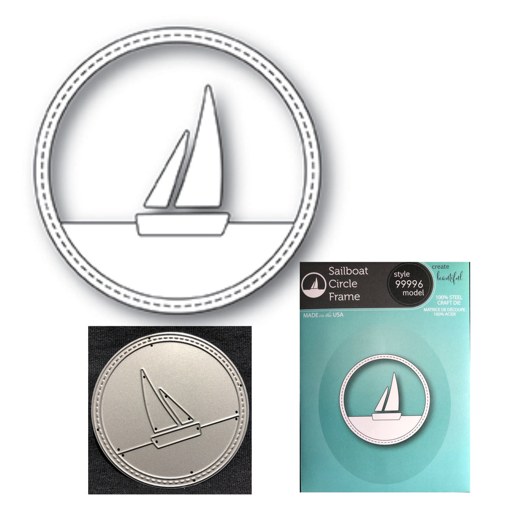 Sailboat Circle Frame Metal Die by Memory Box Dies 99996 - Inpsiration Station Scrapbook Store & Retreat