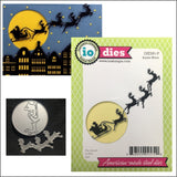Santa Moon Metal Die Cut by Impression Obsession Die Cuts DIE591-P - Inspiration Station Scrapbook Store & Retreat
