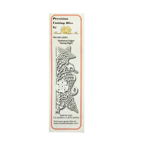 Seahorse Edger Right Metal Die Cut by Frantic Stamper Dies FRA-DIE-10254