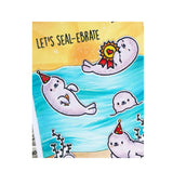 Sealy Friends Cling Stamp Set Seal Words By Heffy Doodle Clear Stamps