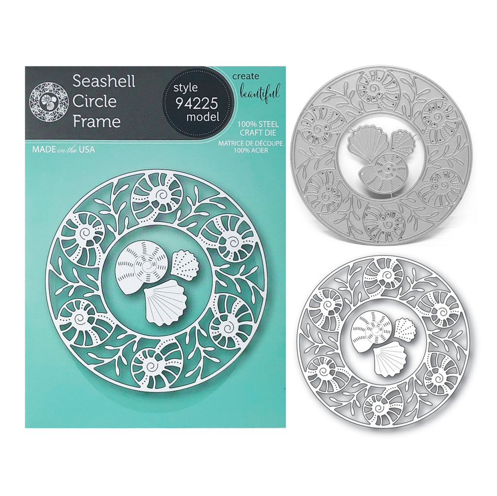 Seashell Circle Frame Metal Die Cut Set by Memory Box Dies 94225 - Inspiration Station Scrapbook Store & Retreat