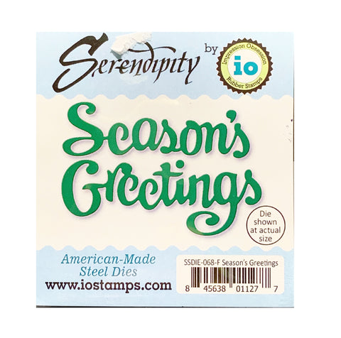 Season's Greetings Word metal die cut by Serendipity Cutting Dies